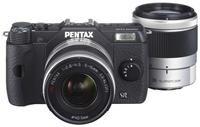 Pentax Q10 5-15mm + 15-45mm Kit schwarz