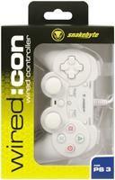 Joypad Snakebyte wired:con white  wired Controller Joypad Snakebyte wired:con, Weiss kabelg Sony PS3 Zubehör, deutsch