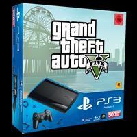Sony PlayStation 3 SuperSlim 500 GB inkl. Grand Theft Auto 5 (GTA5),  Sony PS3, deutsch
