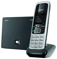 Gigaset C430 A IP schwarz,  ECO-Dect, Anschluss über a/b oder Ethernet, 4.6 cm / 1.8' Display, Anrufbeantworter