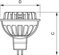 Philips Master LEDspotLV 7W GU5.3 MR16 60D kaltweiß