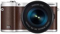 Samsung NX310M Kit NX18-55mm i-Function  braun, Tasche, Ledergurt und 2. Akku  ,