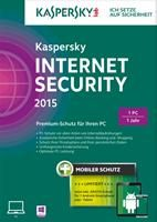 Kaspersky Internet Security 2015 + Android Security 1 User (1 Tablet oder 1 Smartphone) Win DE (FFP) CD-ROM