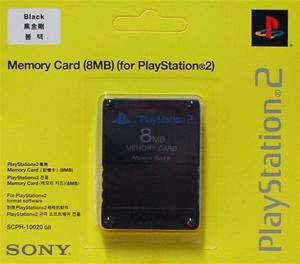 Sony 8MB Memory Card schwarz Sony PS2 Zubehör (Article no. 90028037) - Picture #1