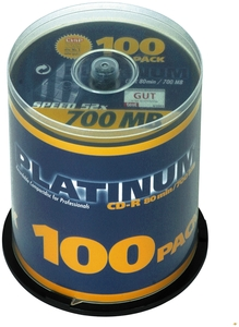 Platinum CD-R 80 Minuten 700MB 52X , (Article no. 90067141) - Picture #1