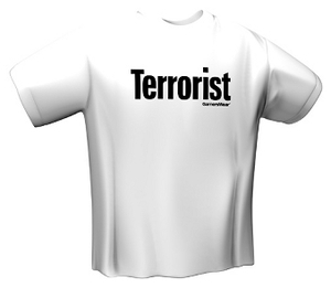 T-Shirt Terrorist white Gr. S (item no. 90124945) - Picture #1