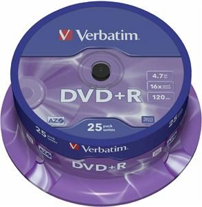 Verbatim DVD+R 4.7GB 16X 25er Spindel (Article no. 90134698) - Picture #1