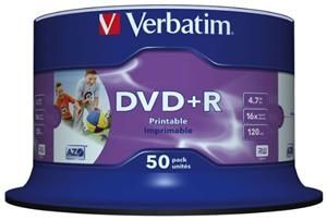 Verbatim DVD+R 4.7GB 16X Inkjet white 50er Spindel (Article no. 90134699) - Picture #2