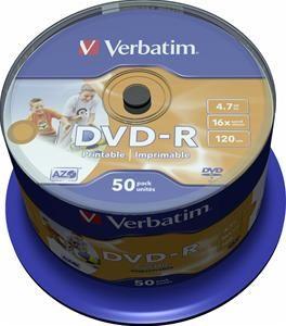 Verbatim DVD-R 4.7GB 16X Inkjet white 50er Spindel (Article no. 90135185) - Picture #1