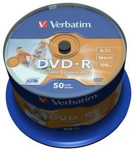 Verbatim DVD-R 4.7GB 16X Inkjet white 50er Spindel (Article no. 90135185) - Picture #3