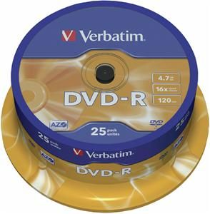 Verbatim DVD-R 4.7GB 16X 25er Spindel (Article no. 90141198) - Picture #1