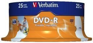 Verbatim DVD-R 4.7GB 16X Inkjet weiß 25er Spindel (Article no. 90141199) - Picture #2