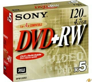 Sony DVD+RW 4.7GB 4X 5er Pack (Article no. 90146900) - Picture #3