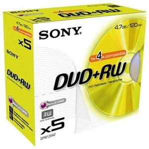 Sony DVD+RW 4.7GB 4X 5er Pack (Article no. 90146900) - Picture #2