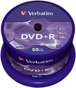 Verbatim DVD+R 4.7GB 16X 50er Spindel (Article no. 90146920) - Picture #1