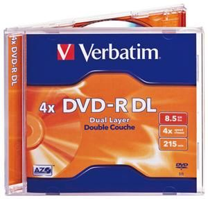 Verbatim DVD-R DL 8.5GB 4X Jewelcase 5er (Article no. 90157784) - Picture #2