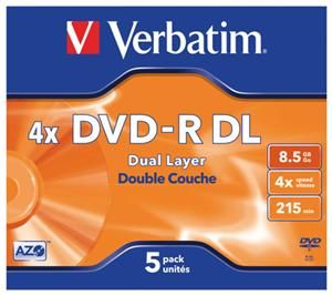 Verbatim DVD-R DL 8.5GB 4X Jewelcase 5er (Article no. 90157784) - Picture #1