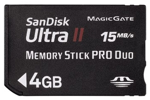 SanDisk Memory Stick PRO Duo 4GB Ultra II (Article no. 90176770) - Picture #1