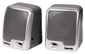 Hama Aktiv-Lautsprecher AS-91 silver 7 Watt (PMPO), Stromversorgung: 2x AA (Article no. 90178269) - Picture #1