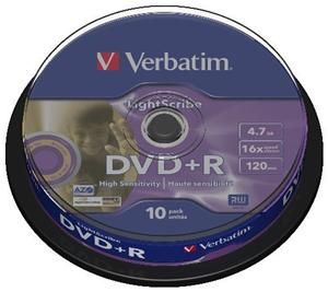Verbatim DVD+R 4.7GB 16X Lightscribe 10er Spindel (Article no. 90188809) - Picture #2