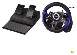 Hama Racing Wheel Thander V18 for PS2 (item no. 90214075) - Picture #1