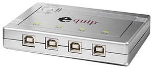 Equip USB2.0 Sharing-Switch 4-1 for connection with 1 USB-Gerät an 4 PCs (Article no. 90217707) - Picture #1