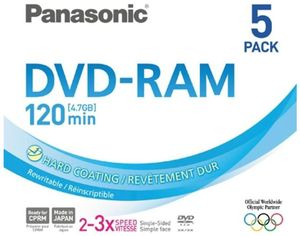 Panasonic DVD-RAM 4.7GB 3X Audio 5er Pack (Article no. 90247025) - Picture #2