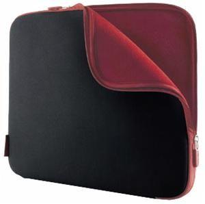 Belkin Neoprenhülle schwarz/weinrot für Notebooks bis 43.9cm (17.3