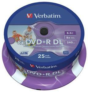 Verbatim DVD+R DL 8.5GB 8X Inkjet white 25er Spindel (Article no. 90277754) - Picture #4