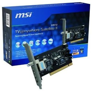 MSI TV Anywhere Satellite II PCI Digitaler Satellitenempfang, DVB-S/S2, (Art.-Nr. 90281920) - Bild #1