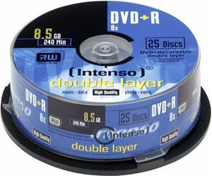 Intenso DVD+R DL 8.5GB 8X 25er Spindel (Article no. 90282299) - Picture #1