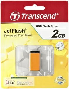 Transcend JetFlash T5T 2GB orange USB2.0, schreiben 3MB/s, lesen 10MB/s (Article no. 90294516) - Picture #1
