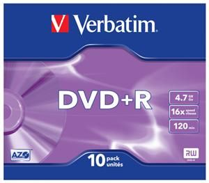 Verbatim DVD+R 4.7GB 16X 10er Pack (Article no. 90295676) - Picture #2