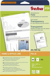 Geha F01 A4 transparent 50 Blatt, für s/w Präsentationen, (Article no. 90329293) - Picture #1