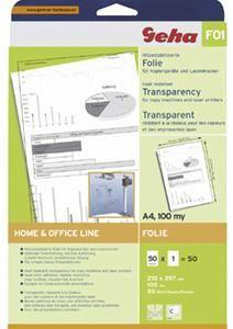 Geha F01 A4 transparent 50 Blatt, für s/w Präsentationen, (Article no. 90329293) - Picture #2