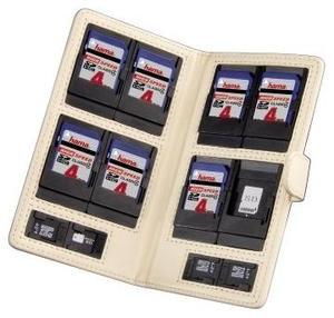 Hama Memory Card Case Vegas beige für SD/microSD, Größe M, (Article no. 90355747) - Picture #1