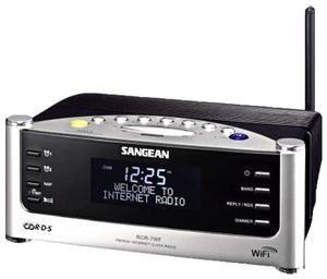 Sangean RCR-7WF schwarz/silber AAC+/MP3/Real/WMA, 0.7 Watt, WLAN b/g, (Art.-Nr. 90373387) - Bild #3
