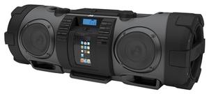 JVC RV-NB52 Boomblaster black 10 Watt, 30 Watt Subwoofer, Audio-CD, (Article no. 90377075) - Picture #1