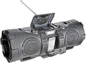 JVC RV-NB52 Boomblaster black 10 Watt, 30 Watt Subwoofer, Audio-CD, (Article no. 90377075) - Picture #3