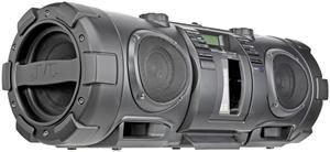 JVC RV-NB52 Boomblaster black 10 Watt, 30 Watt Subwoofer, Audio-CD, (Article no. 90377075) - Picture #2