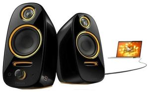 Philips SPA7210 schwarz/orange 2.0 System, 62Hz-20kHz, 40 Watt, 3.5mm (Art.-Nr. 90377114) - Bild #2
