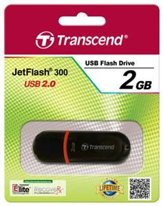 Transcend JetFlash 300 2GB rot (Article no. 90387906) - Picture #3