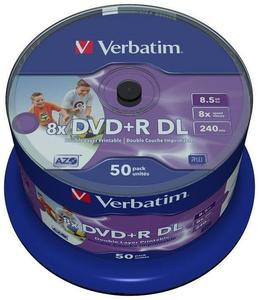 Verbatim DVD+R DL 8.5GB Inkjet white 50er Spindel (Article no. 90394341) - Picture #4