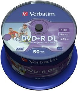 Verbatim DVD+R DL 8.5GB Inkjet white 50er Spindel (Article no. 90394341) - Picture #1