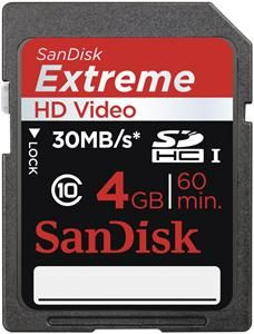 SanDisk Extreme SDHC UHS-I Karte 4GB (Article no. 90396493) - Picture #1