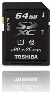 Toshiba SDXC Karte 64GB max. 35MB/s schreiben, max. 60MB/s (Art.-Nr. 90396494) - Bild #1