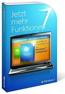 Microsoft Anytime Upgrade Windows 7 Home Premium zu Professional 32/64bit  , (Article no. 90404765) - Picture #1