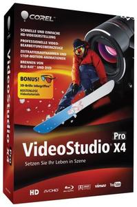 Corel VideoStudio Pro X4 Windows, German, Mini-Box (Article no. 90409595) - Picture #1