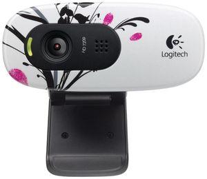 Logitech HD Webcam C270 Fingerprint Flowers,  USB2.0, 1.2MP, Mikrofon, (Article no. 90418144) - Picture #1