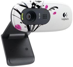Logitech HD Webcam C270 Fingerprint Flowers,  USB2.0, 1.2MP, Mikrofon, (Article no. 90418144) - Picture #2